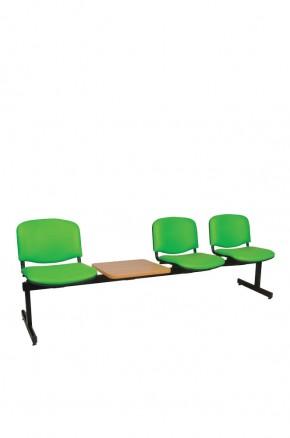 Panca a tre posti attesa imbottita con tavolino