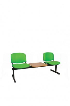 Panca a due posti attesa imbottita con tavolino