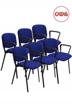 Kit 6 sedute attesa imbottite con braccioli