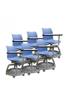 Kit 6 sedie girevoli College